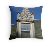 A great ornate window from Kimberly Crest in Redlands, California Throw Pillow