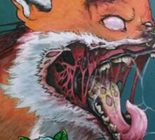 zombie fox Sticker