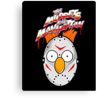 muppets beaker mashup friday the 13th Canvas Print