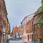 Lviv's street in evening by Vera Kalinovska