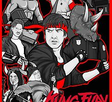 kung fury tribute collage art by gjnilespop