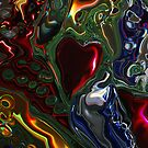Christmas Tree Heart Abstract  by Michelle BarlondSmith