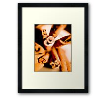 Cinnamon Swirl Dance Framed Print