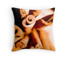 Cinnamon Swirl Dance Throw Pillow