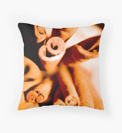 Cinnamon Swirl Dance Throw Pillow