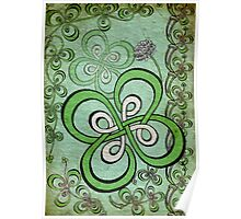 Another 4 leaf Clover Knot Poster