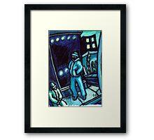 Blue walker no.2 Framed Print