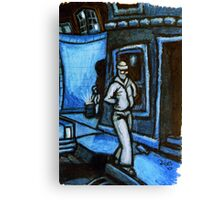 Blue Walker no.3 Canvas Print