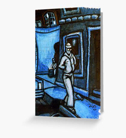 Blue Walker no.3 Greeting Card