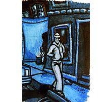 Blue Walker no.3 Photographic Print