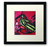 The Red chair (Apprehension Red) Framed Print