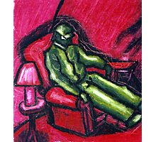 The Red chair (Apprehension Red) Photographic Print