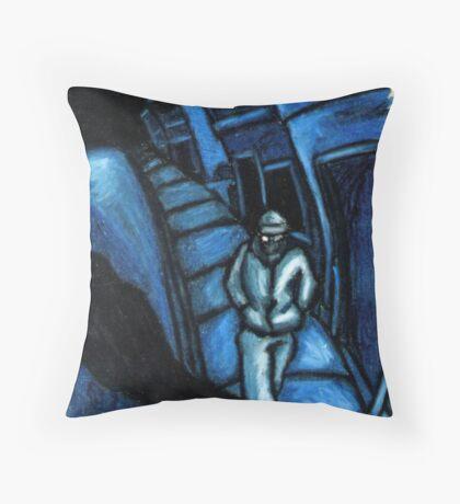 Blue walker no.1 Throw Pillow