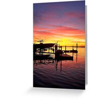 Evening Colors of Jamaica Bay Greeting Card