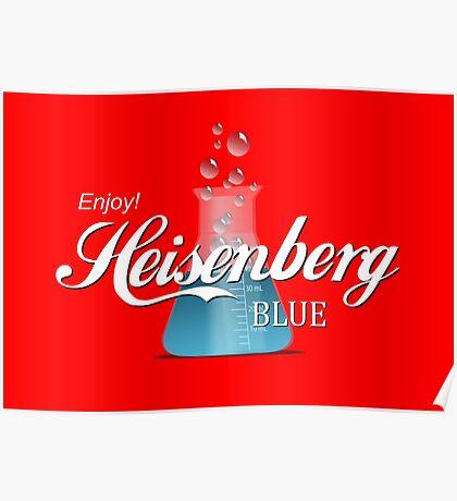 Enjoy Heisenberg Blue Poster