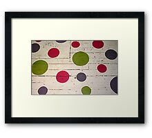 dot matrix Framed Print