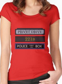 British Fandoms Unite Women's Fitted Scoop T-Shirt