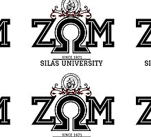 Silas University Zeta Omega Mu- Large Red insignia design by Sw'aa .designs