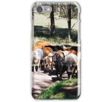 Herding the cattle iPhone Case/Skin