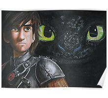 Hiccup and Toothless  Poster