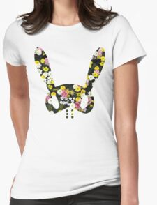 Floral BAP Bunny Womens Fitted T-Shirt