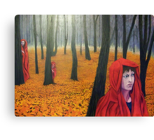what follows ridinghood Canvas Print