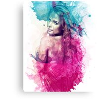 A Woman in Watercolor Canvas Print