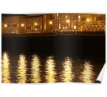 River Thames@night Poster