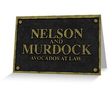 Nelson and Murdock, Avocados at Law Greeting Card