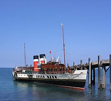 Paddle Steamer Waverley at Lundy by Christopher Ware