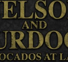 Nelson and Murdock, Avocados at Law Sticker