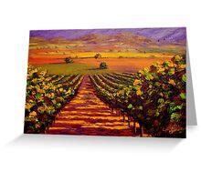 Provençal Vineyard Farmland Greeting Card