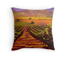 Provençal Vineyard Farmland Throw Pillow
