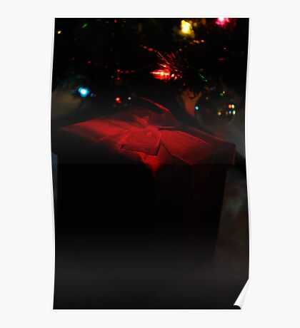 Red Gift Box-Low Key Poster