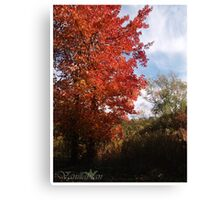 Tree of Flames Canvas Print