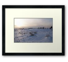 A Winter Snow Scene in Maine Framed Print