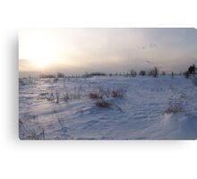 A Winter Snow Scene in Maine Canvas Print