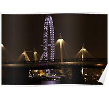 London Eye@night Poster