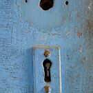 Blue key hole by DariaGrippo