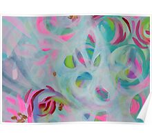 Frosted Floral Poster
