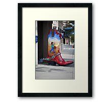 Large Boot Framed Print
