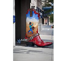Large Boot Photographic Print
