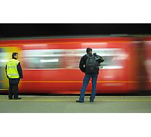 The train now arriving on platform three.....  Photographic Print