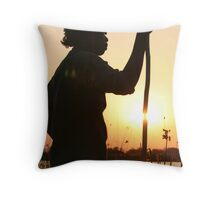 Sunset, Okavango Delta, Botswana Africa Throw Pillow