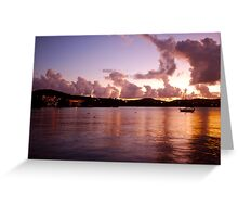 Vieques Island at dusk Greeting Card