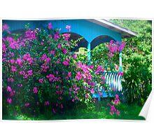tropical flowers | random house Poster