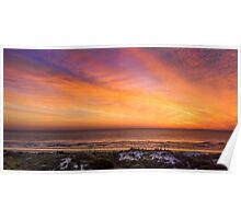 Colorful Coastal Daybreak Poster