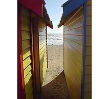 """Beach Boxes"" Brighton Beach, Victoria, Australia Photographic Print"