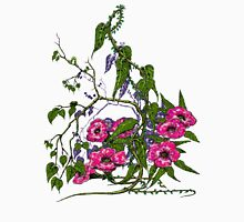 Flowers and Vines Womens Fitted T-Shirt