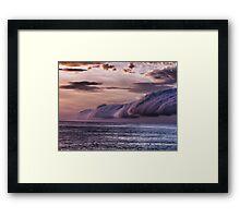 Broome cloud hovering  Framed Print